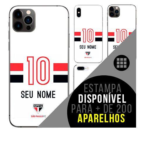 Capa de celular camisa de time com nome personalizável - São Paulo