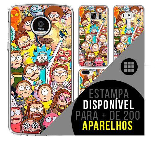 Capa de celular - Rick and Morty  [disponível para + de 200 aparelhos]