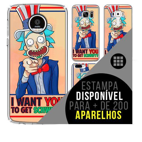 Capa de celular - Rick and Morty  2 [disponível para + de 200 aparelhos]