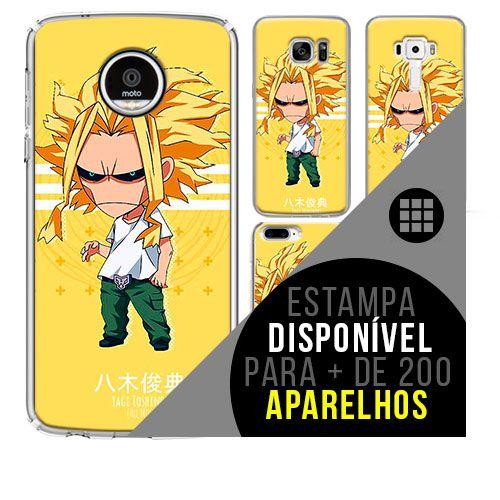 Capa de celular boku-no-hero - Denki-Kaminari 56 [disponível para + de 200 aparelhos]