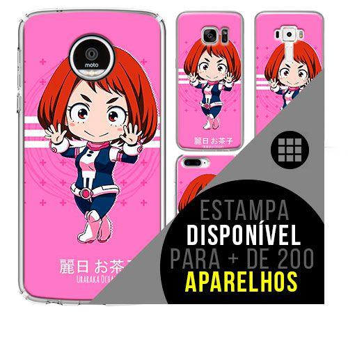 Capa de celular boku-no-hero - Ochaco-Uraraka 59 [disponível para + de 200 aparelhos]
