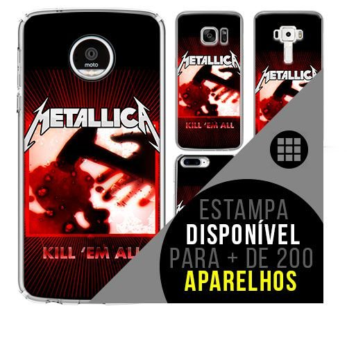 Capa de celular - METALLICA 4 [disponível para + de 200 aparelhos]