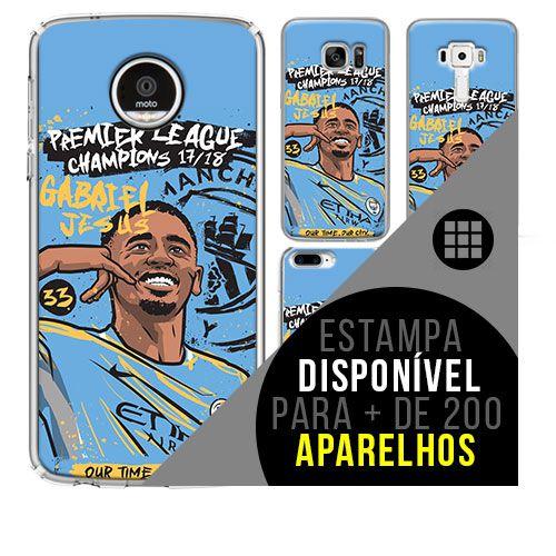 Capa de celular - Manchester City 4 [disponível para + de 200 aparelhos]