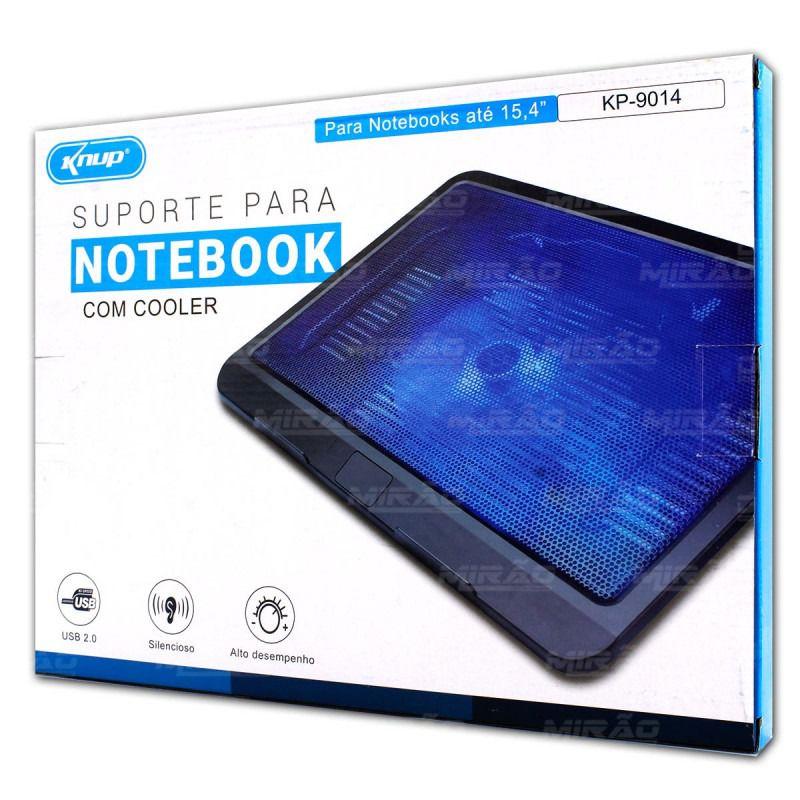 Base Suporte Para Notebook Com Cooler E Iluminação