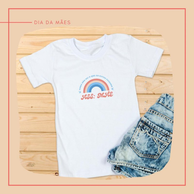 Camiseta Arco-iris branca