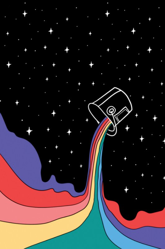 Quadro Colorindo o Universo