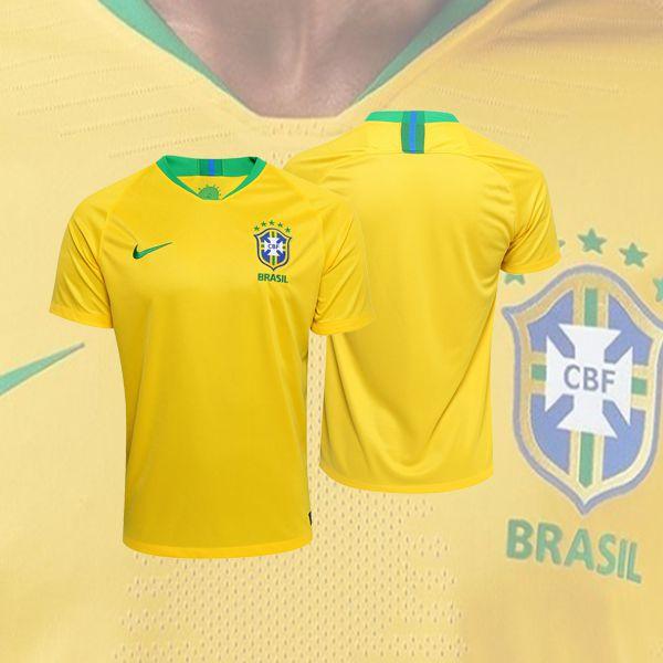 Camisa Seleção Brasil I 2018 S N° - Torcedor Nike - Amarela fa1be919c52e0