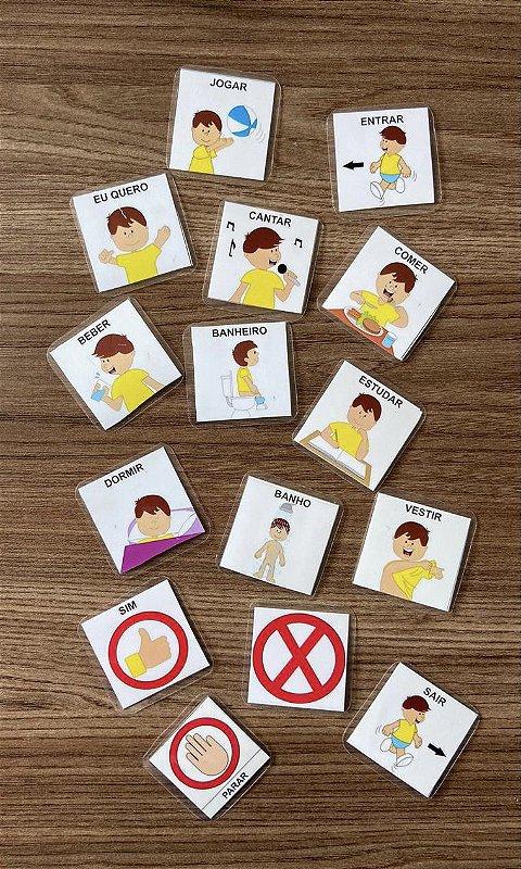 Kit de Figuras Básicas para pasta de Comunicação Alternativa