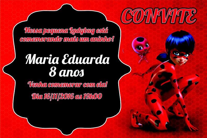 m scara convite miraculous ladybug cat noir festa