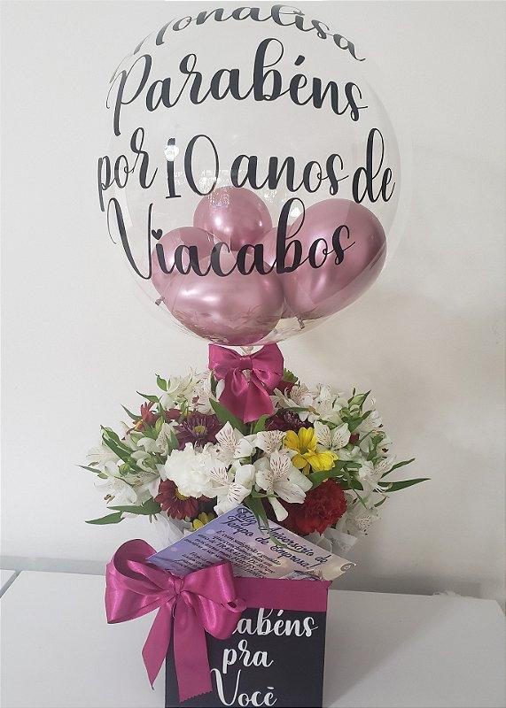 Cachepo de Flores com Balão Bubble