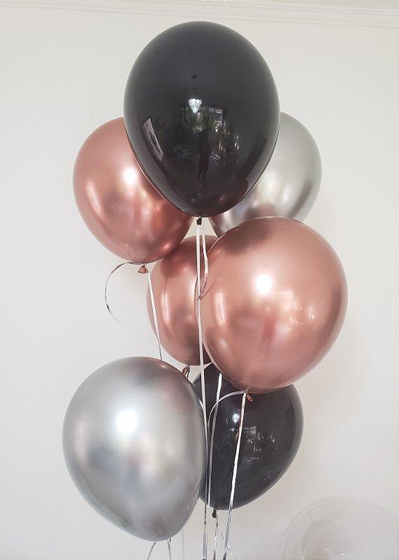 Bouquet balões metalizados