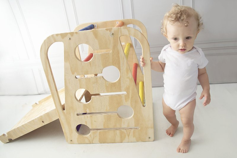 COMBO 🎁 20%Off 🎁 Pikler+Montessori | IQBench + Toddler Playset Gym