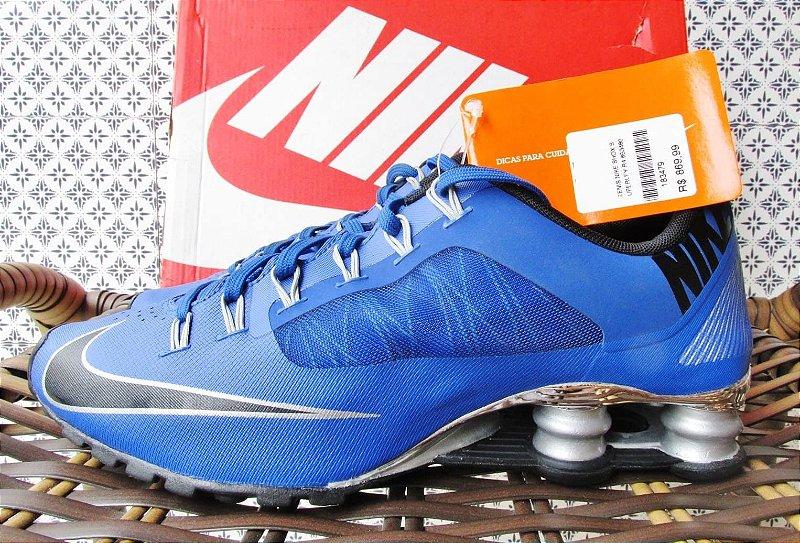 Tênis quatro molas azul Nike Shox Superfly R4 | Tamanhos 37, 38 e 40