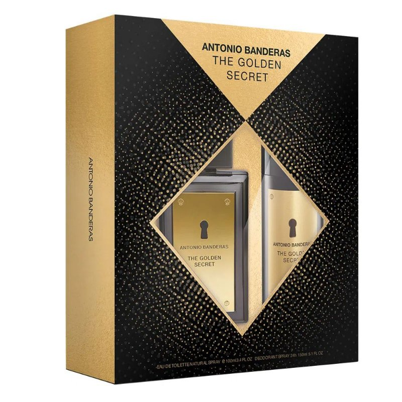 ANTONIO BANDERAS KIT GOLDEN SECRET+DEO EDT MASCULINO