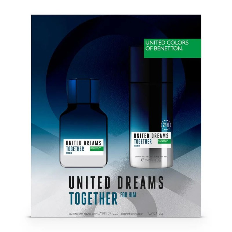 BENETTON KIT TOGETHER+DEO EDT  MASCULINO