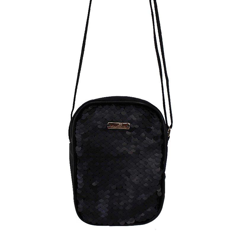 Bag Preta Paeté