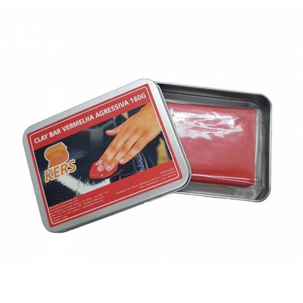 Clay Bar Vermelho Agressivo (Removedor de Contaminantes) 160gr - Kers