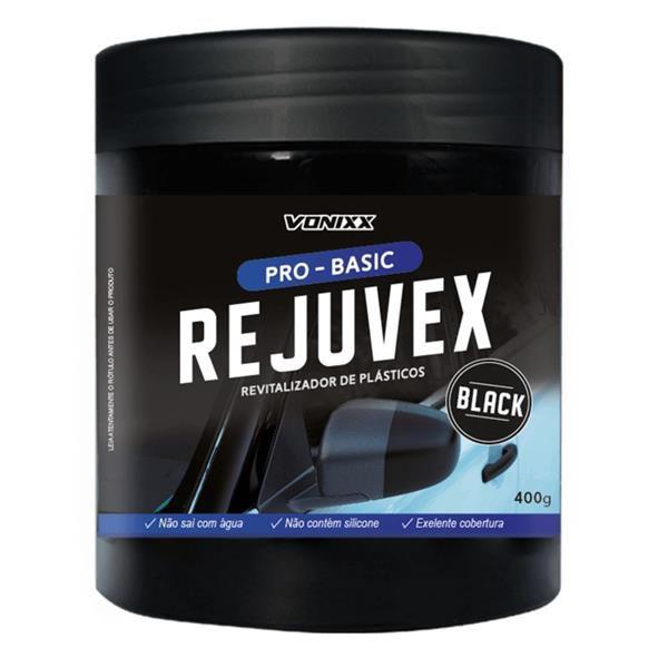 Rejuvex Black - Revitalizador de Plásticos Externos 400gr - Vonixx