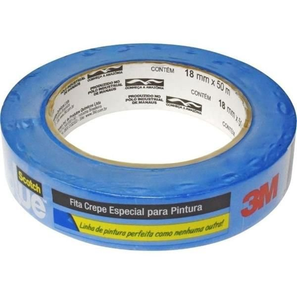 Fita Crepe Profissional - Scoth Blue 18mmx50m - 3M