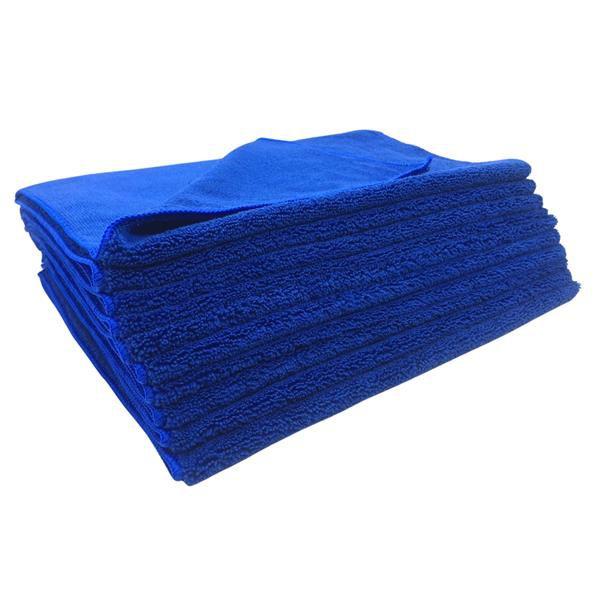 Kit C/ 10 Toalha de Microfibra Azul 40x60cm 400GSM  - EXC
