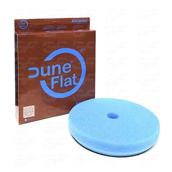 "Boina de Espuma Flat Azul Dune 5"" Super Agressiva (C/ Furo) - Alcance"