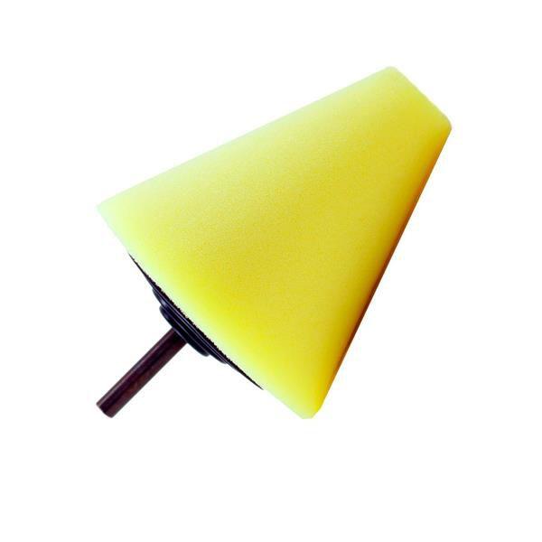 Cone de Espuma Amarelo Suave P/ Polimento - Kers