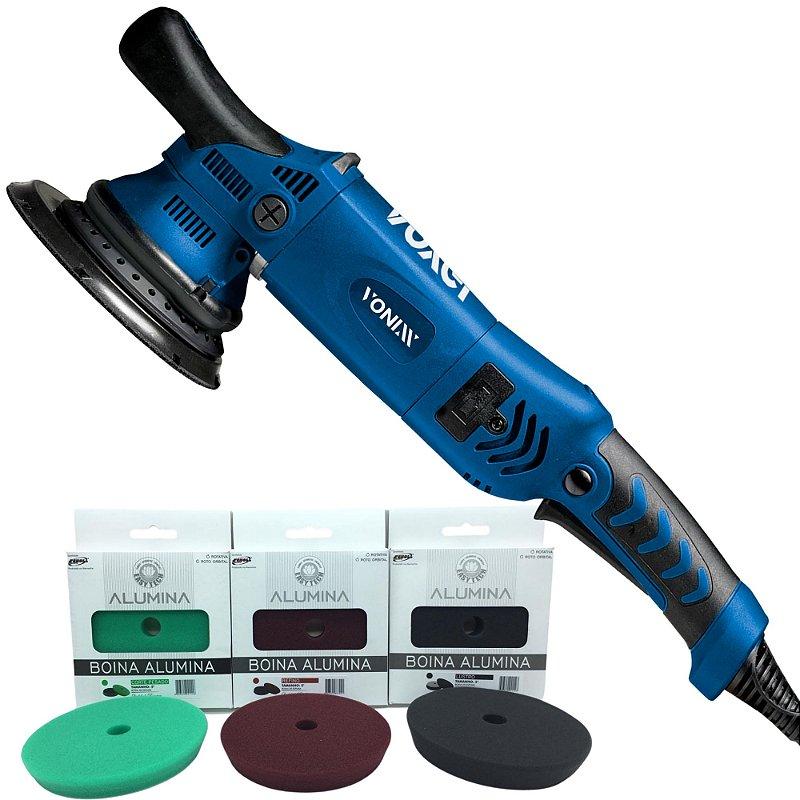 "Politriz Roto Orbital 15mm Voxer Vonixx + Boinas Alumina 5"""