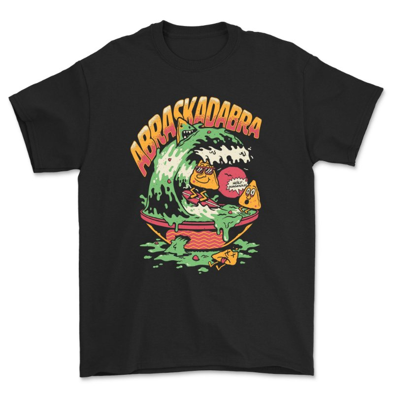 Camiseta GUACAMOLE Preta + Adesivo