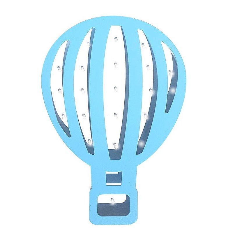 Luminoso Balão MDF/Led Frontal para Quarto de Bebê
