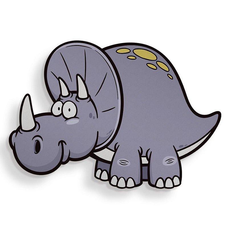 Placa Decorativa Dino Triceratops