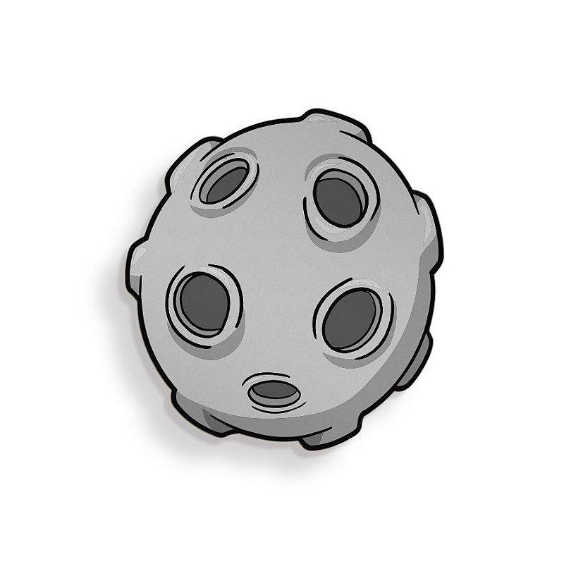 Placa Decorativa Lua