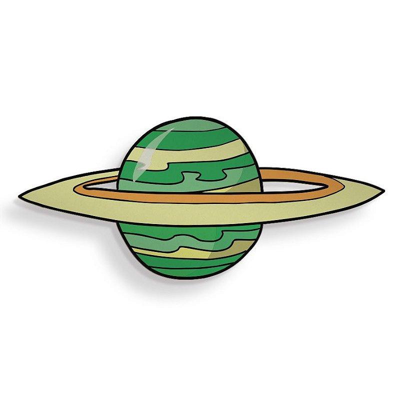 Placa Decorativa Saturno