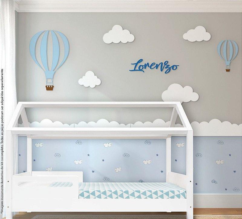 Painel decorativo para quarto de bebê - Tema Balão de Ar Menino / MDF