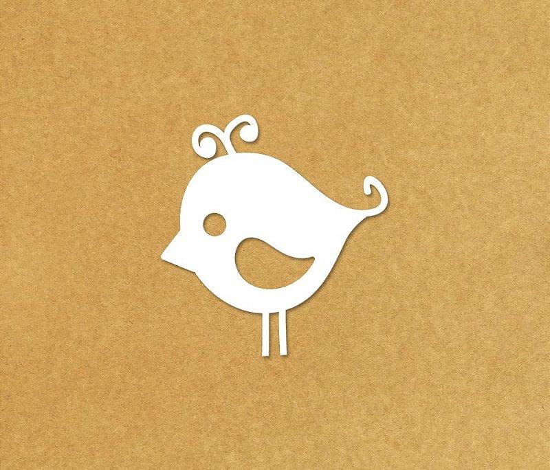 Pássaro grade unitário - Corte MDF Cru/Pintado