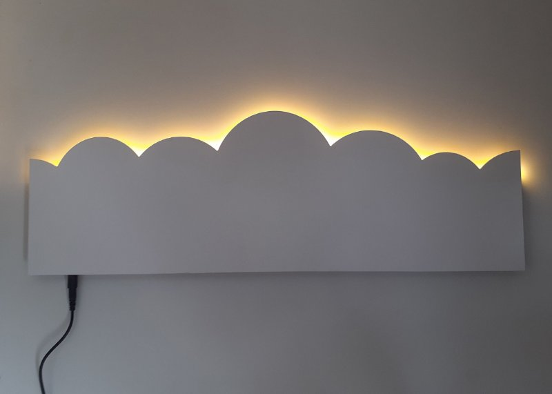 Border Nuvem com LED - Branco Quente