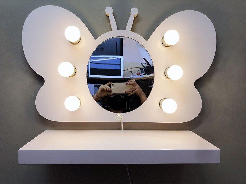 Espelho Borboleta Camarim Infantil