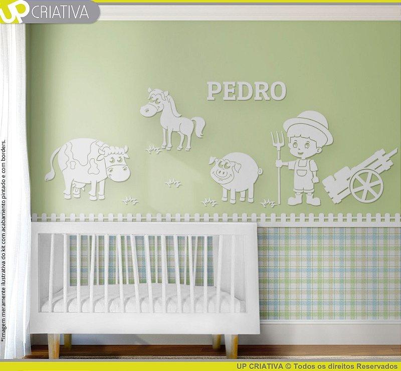 Painel decorativo para quarto de bebê - Tema Fazendinha MDF