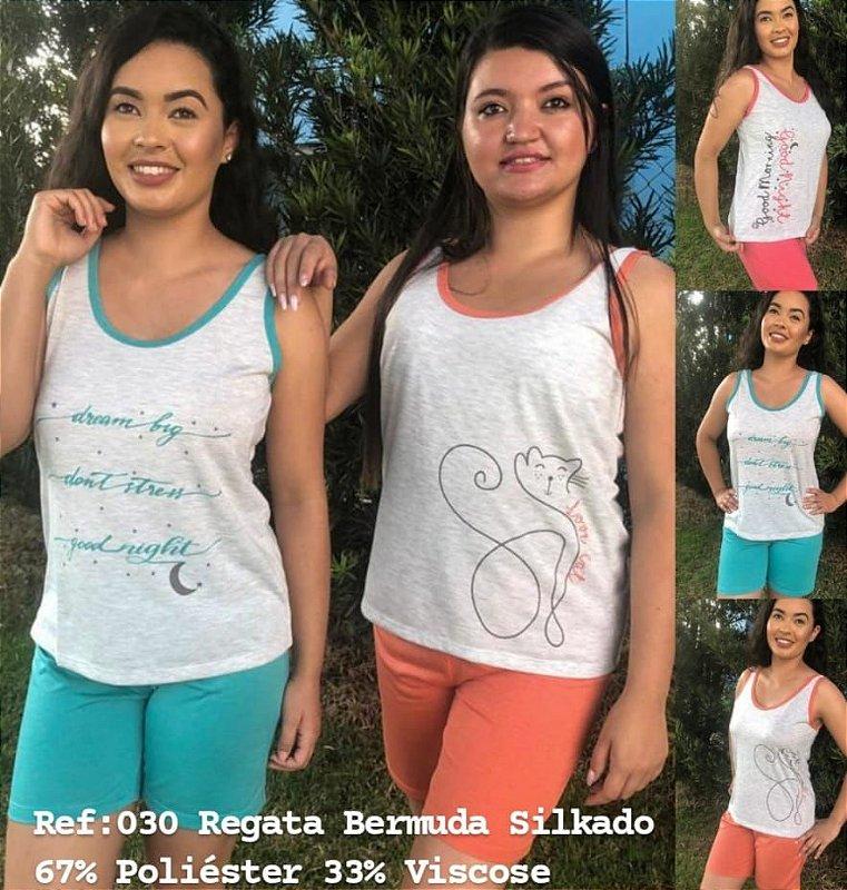 6 pijamas  verão feminino regata e shorts sortidos estampas e tamanhos variados  P-M-GG - EG adulto