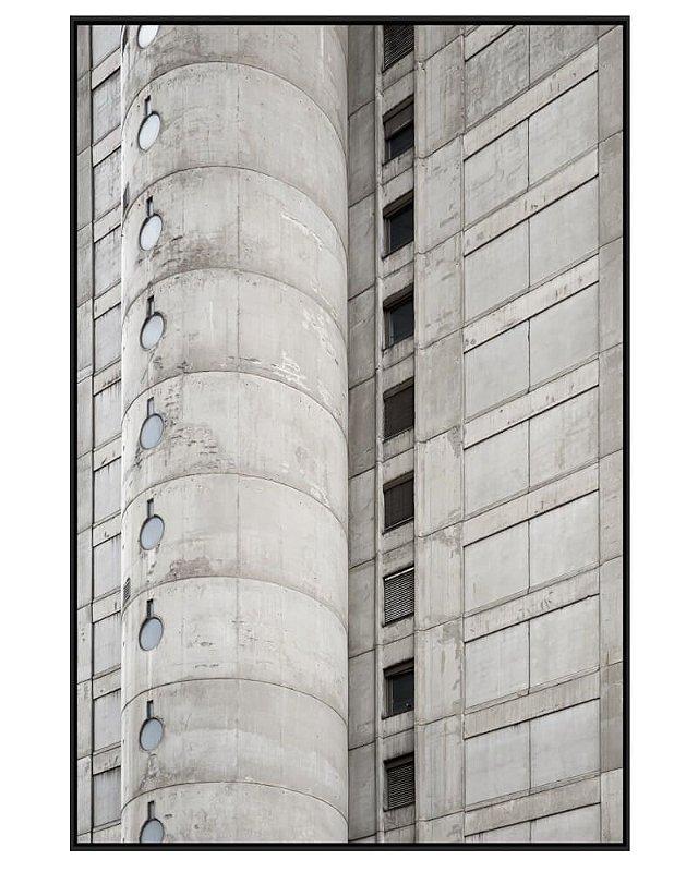 Quadro Canvas Arquitetura e Repetição em Concreto