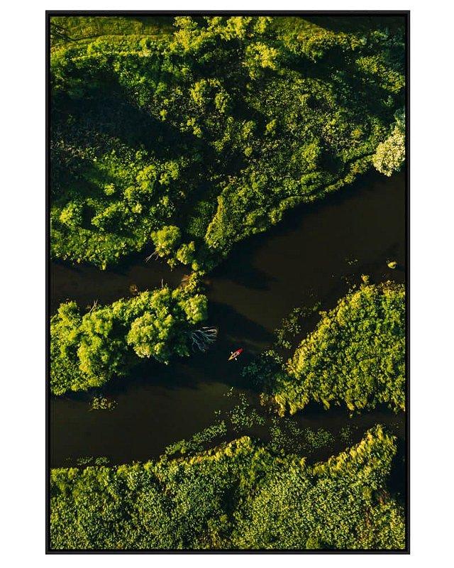 Quadro Canvas Navegação Verde