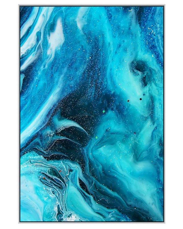 Quadro Canvas Abstrato Azul