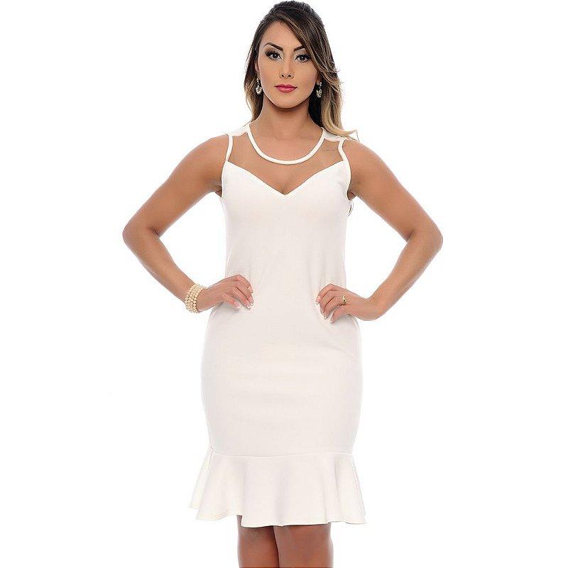 Vestido Midi Social Clarita B'Bonnie Off White