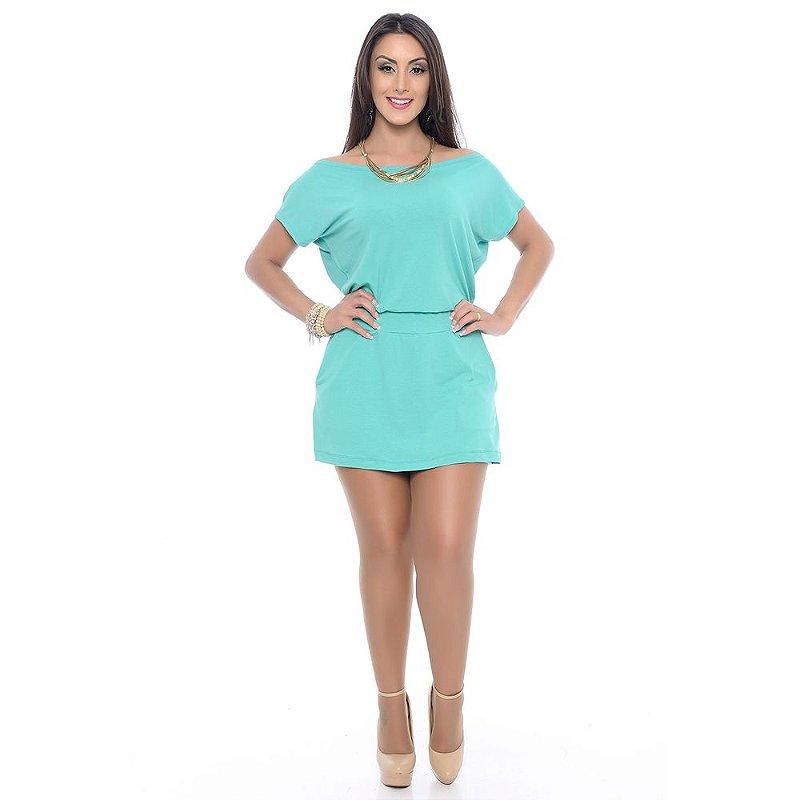 Macaquinho B'Bonnie Shorts Saia Isa Verde Jade