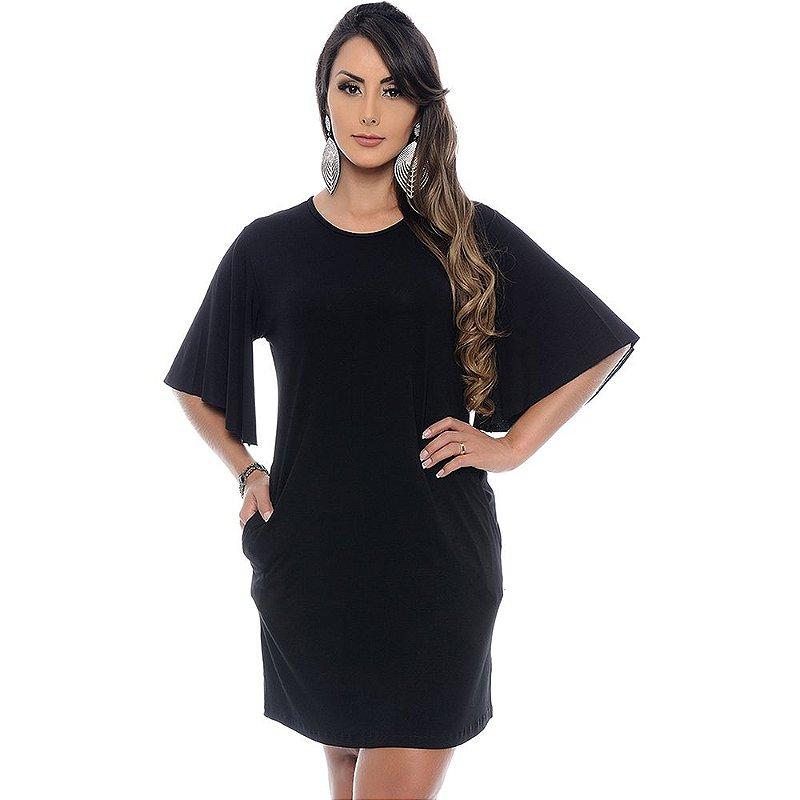 Vestido Curto B'Bonnie M/F Antonella Preto