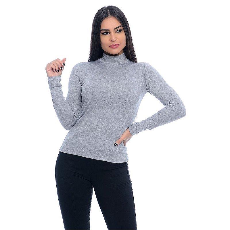 Blusa Cacharrel Manga Longa B'Bonnie Mescla