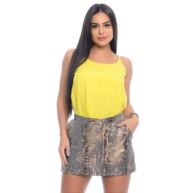 Shorts Saia Crepe com Bolsos B'Bonnie Cobra