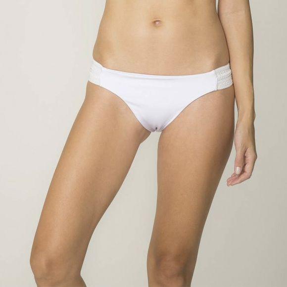 Biquíni elastico enfeite branco - VARIANTE UNICA