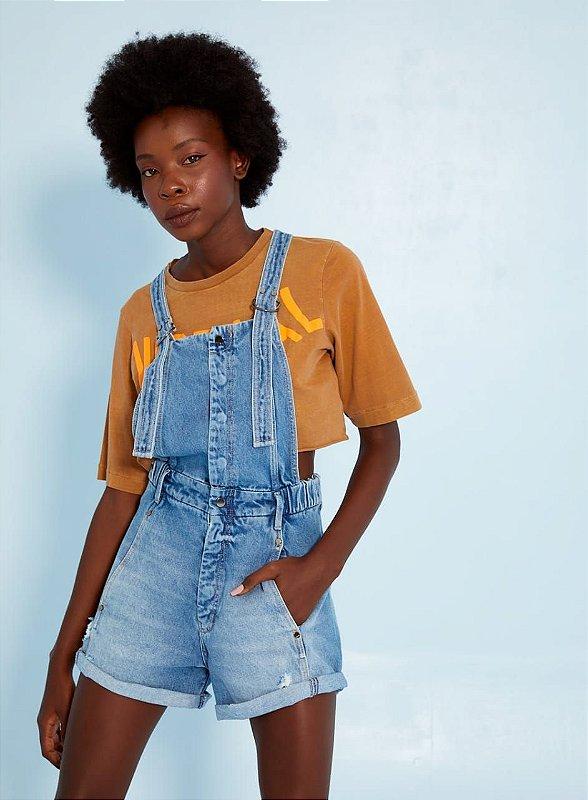 Jardineira Jeans Open