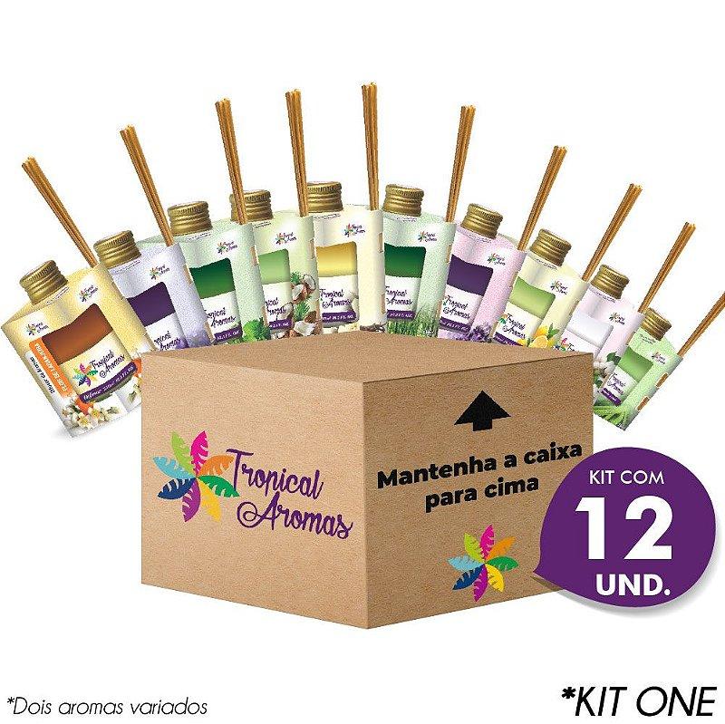 Difusor Caixinha 12 Unidades Kit Revenda - Tropical Aromas
