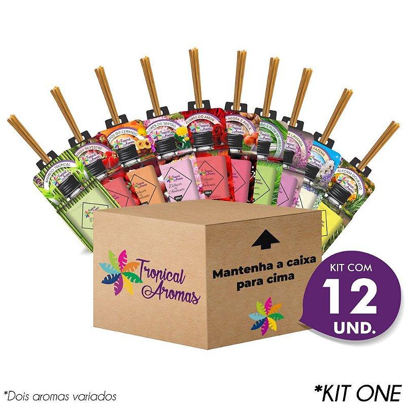 Kit Revenda Difusor Aromas do Brasil 12 Unidades - Tropical Aromas